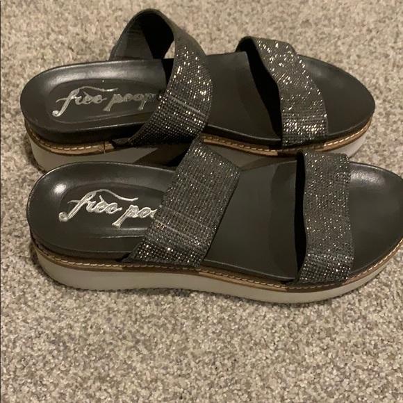 Free People Shoes - Free People silver mesh platform sandals